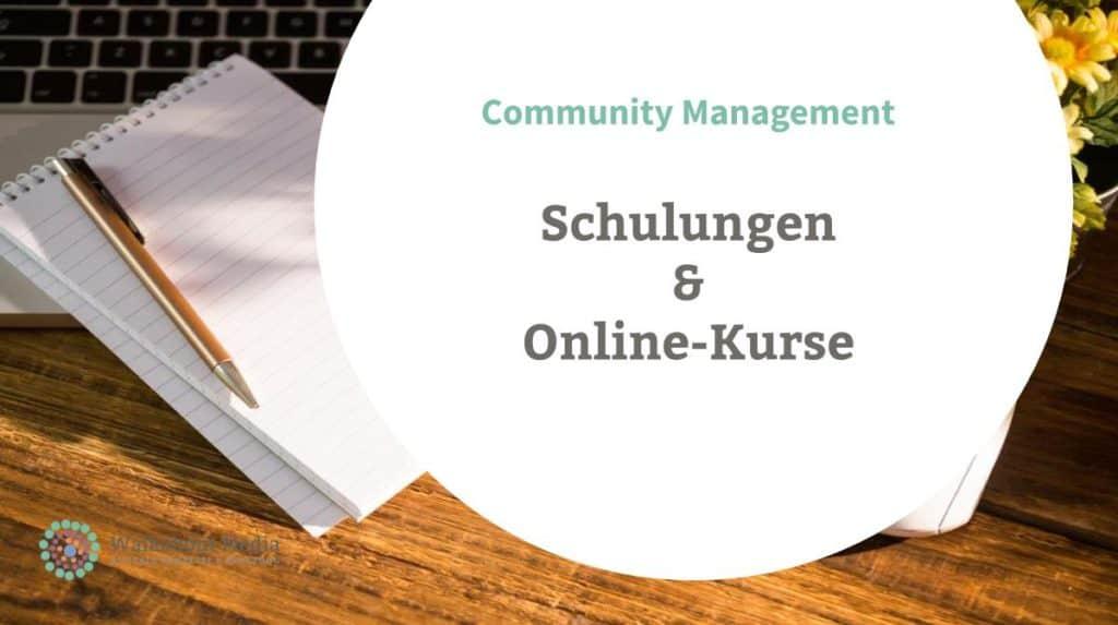 Schulungen Online Kurse Community Management